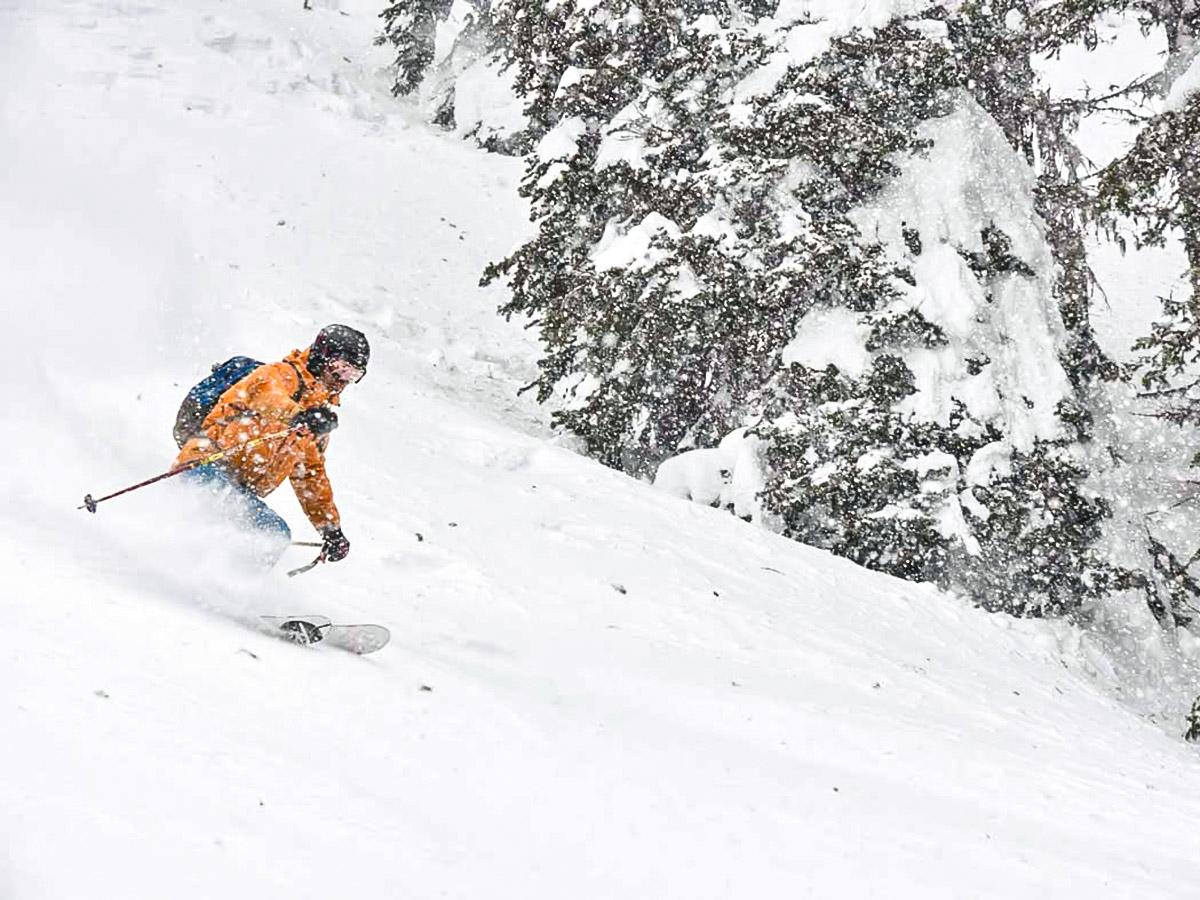 Downhill ski on 9 day Canadian Rocky Mountain ski trip