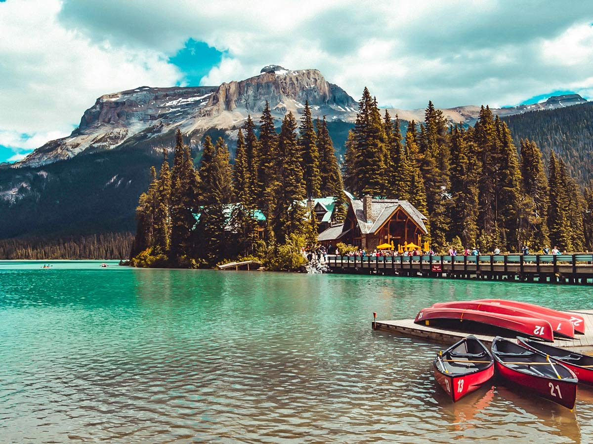 Emerald Lake Lodge visited on a guided family adventure tour in Canada
