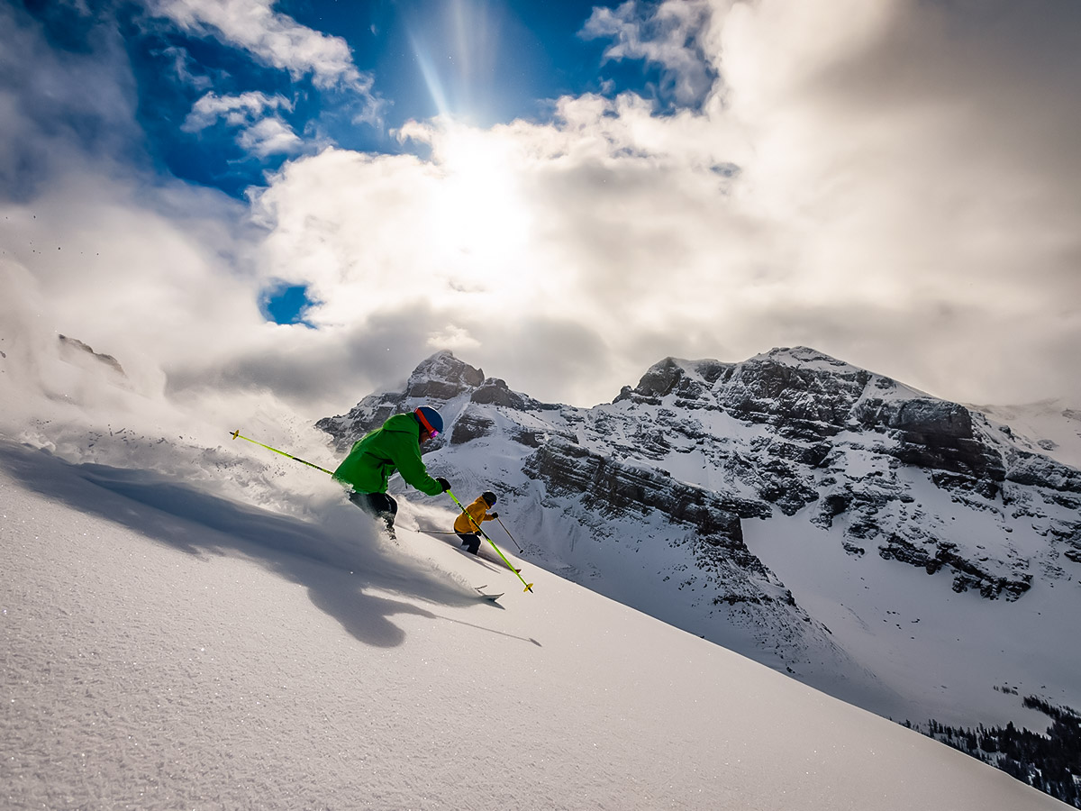 Backcountry ski in Canadian Rocky Mountains