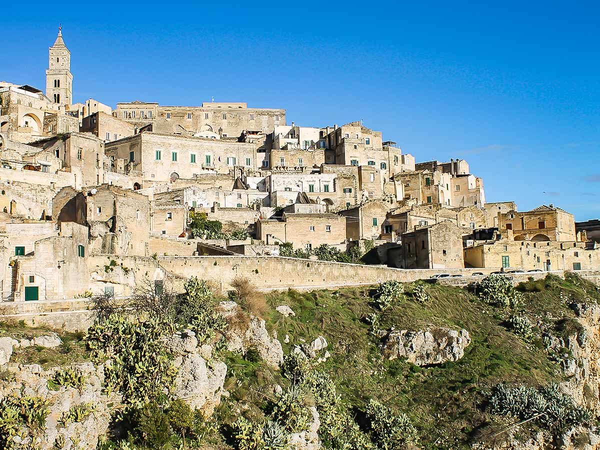 Matera as seen on guided hiking tour in Puglia and Matera Italy