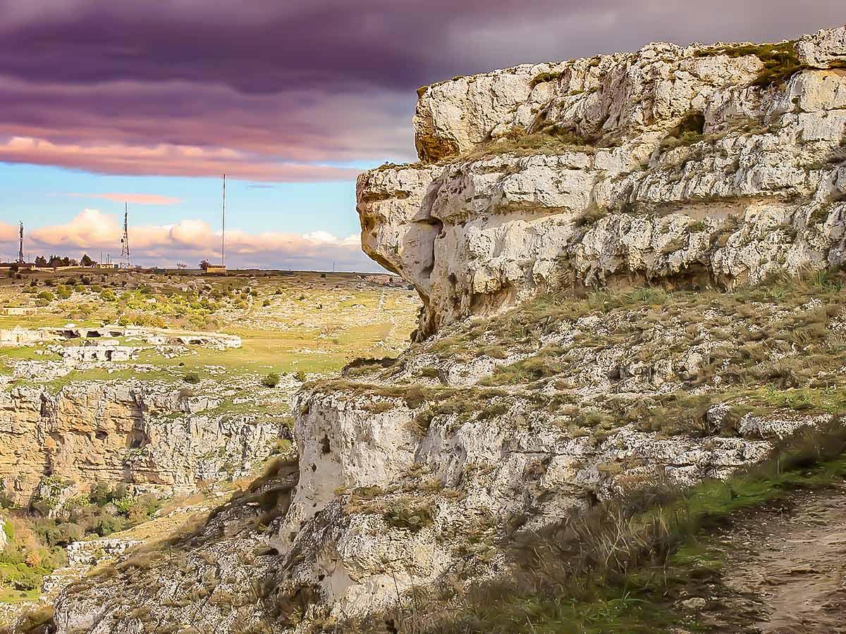 Rock formations near Matera