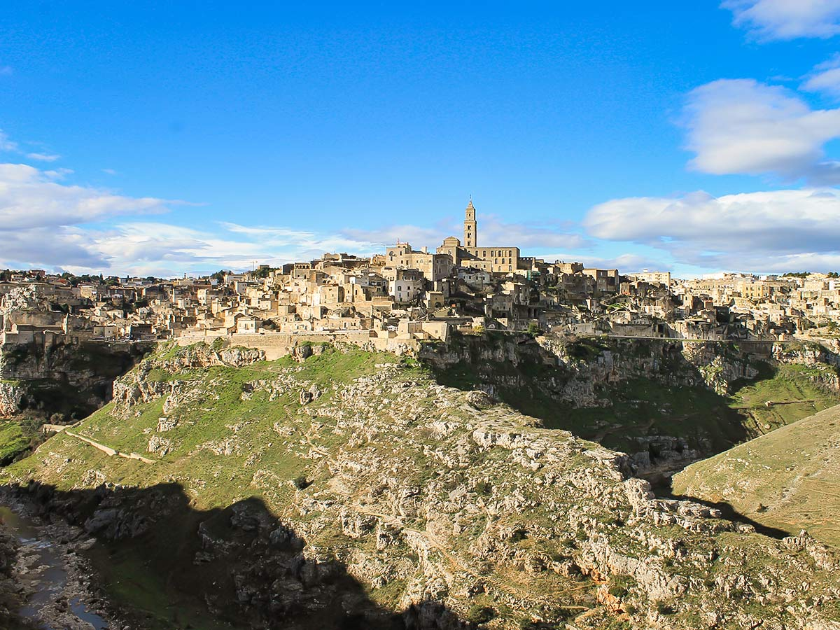 Overlooking the countryside around Matera