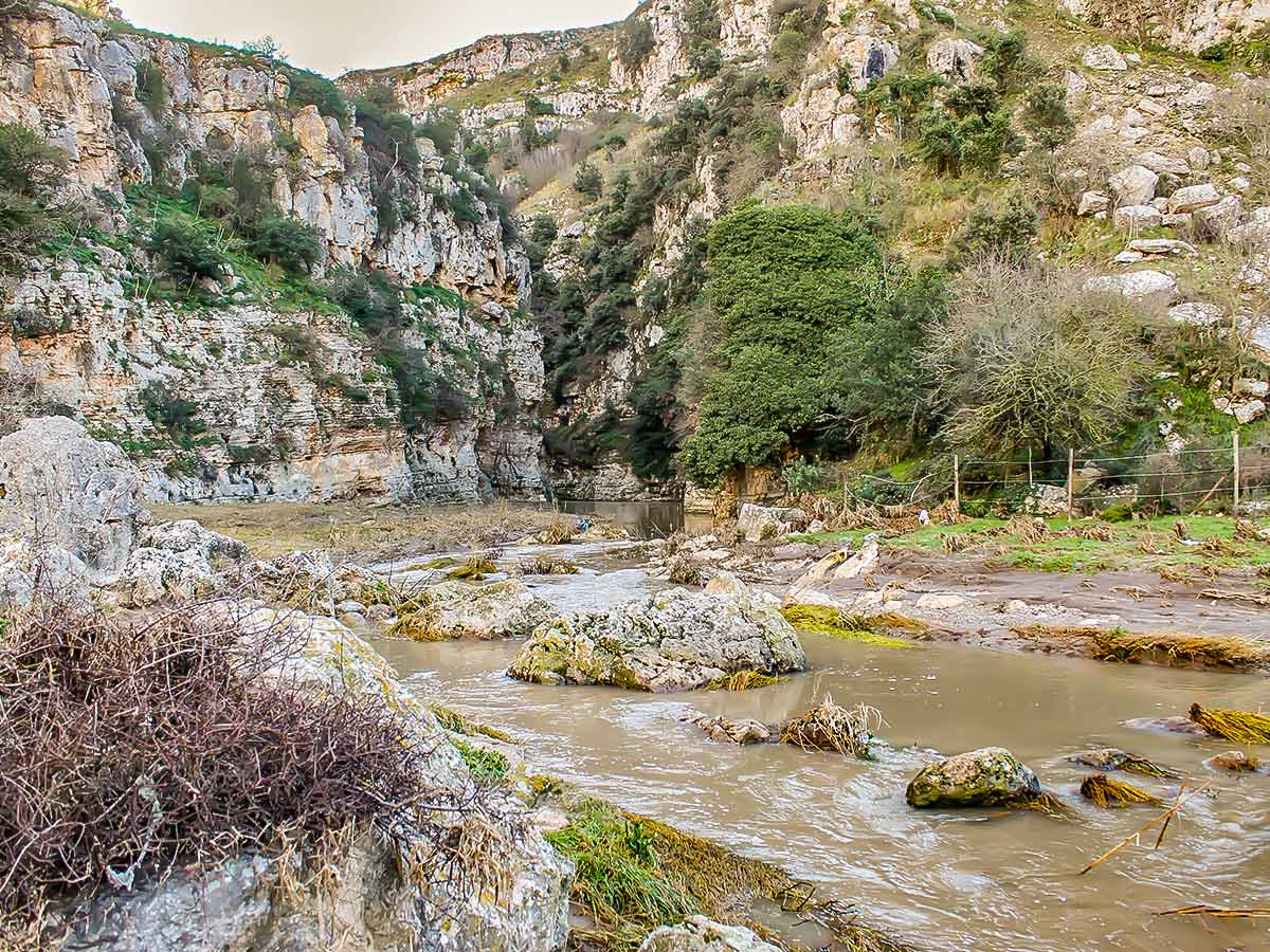 Wild river on guided Puglia and Matera tour in italy