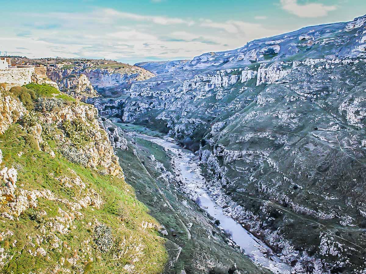 Beautiful gorge seen on Puglia and Matera hiking tour