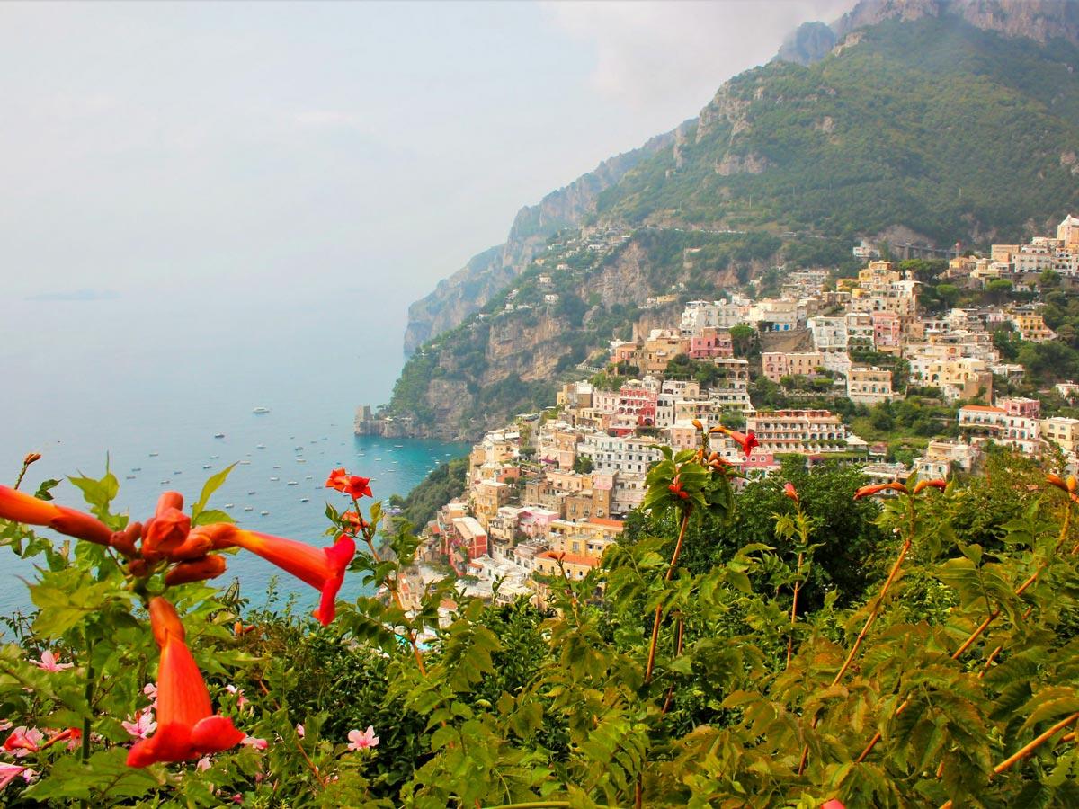 Amazing scenery from the walk along the Amalfi Coast