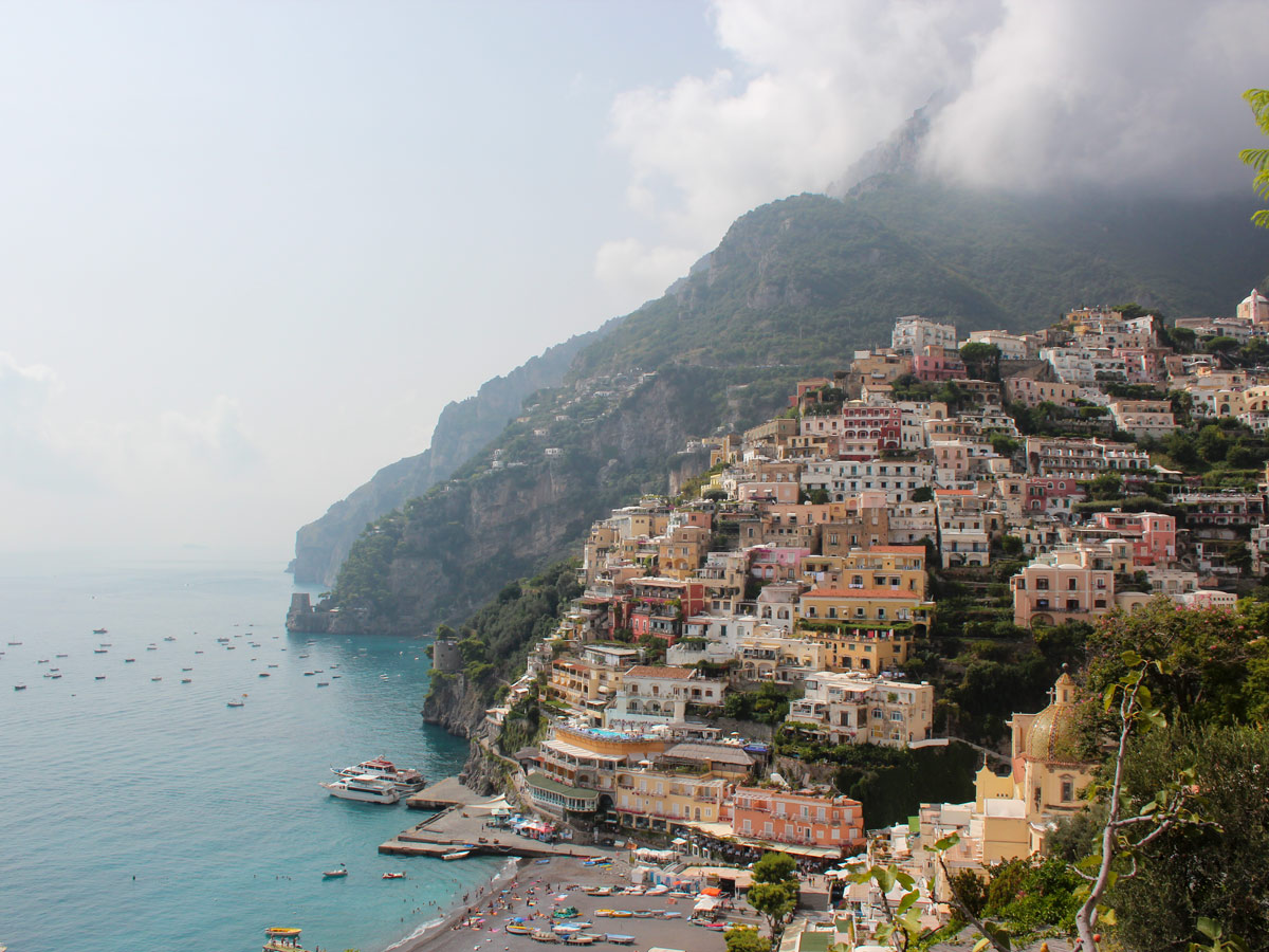 One of several beautiful coastal towns in Italy that you get to pass on a walking tour
