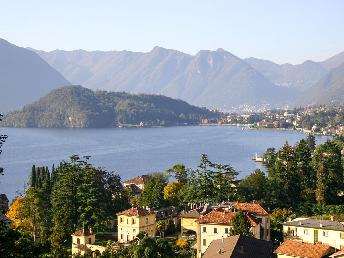 Beautiul views of Lake Como seen on self guided Lombardy Como and Lugano Walk