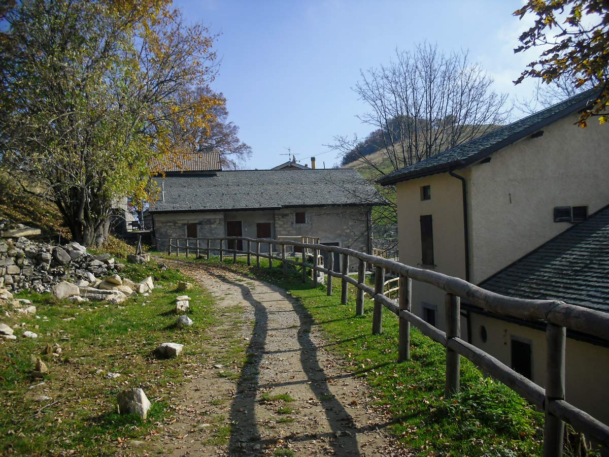 Path along the Lombardian farm self guided Lombardy Como and Lugano Walk