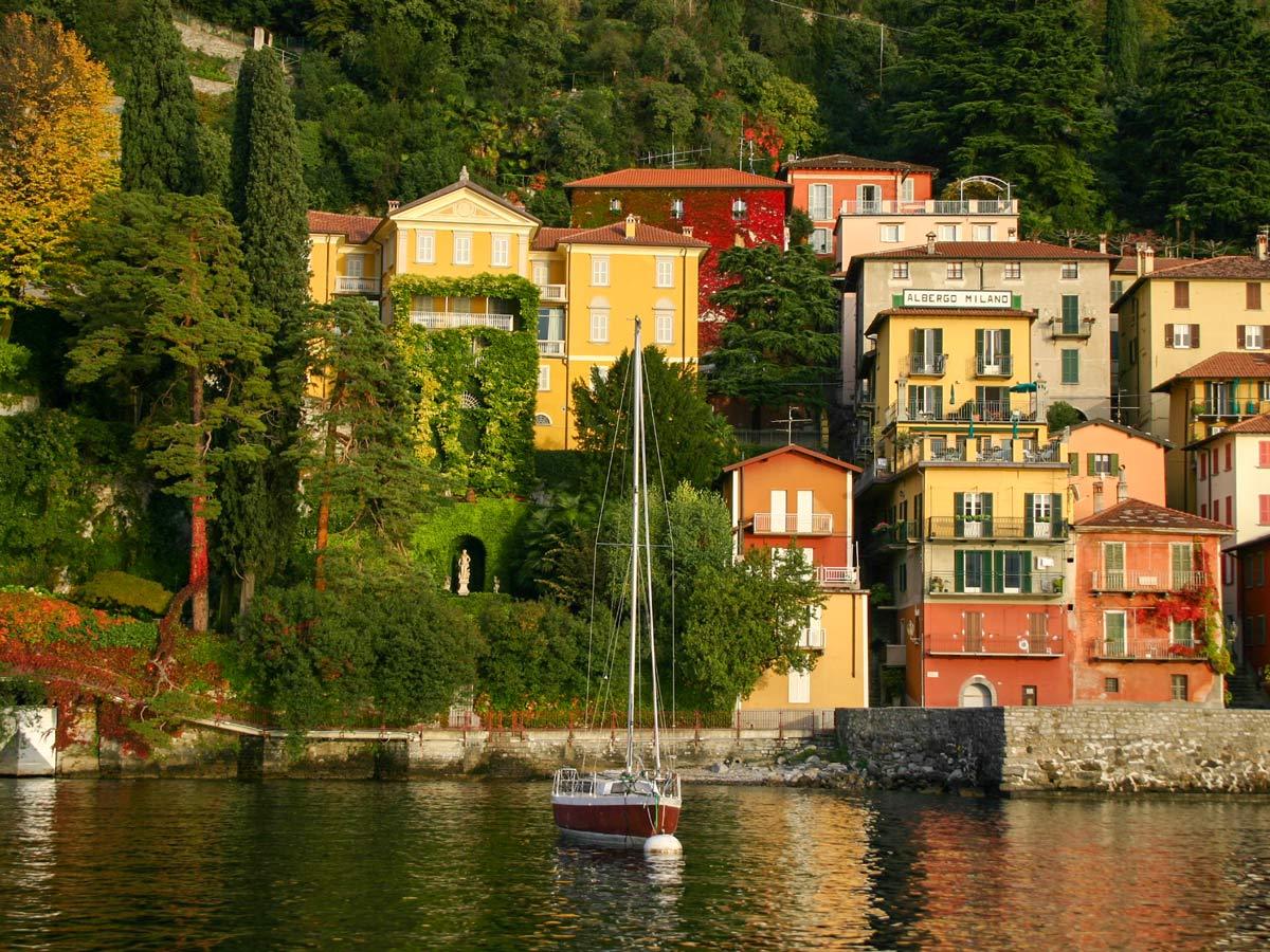 Menaggio visited on self guided Lombardy Como and Lugano Walk