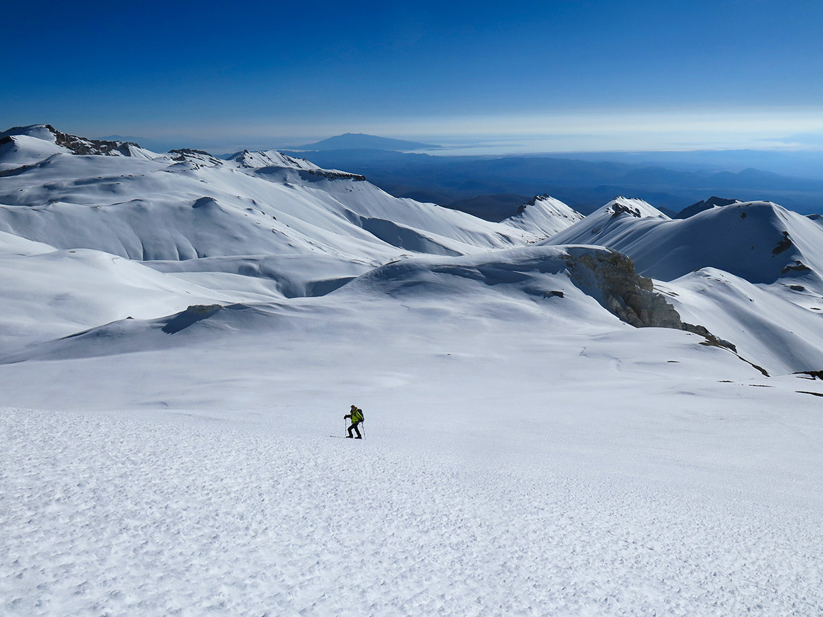 Ascending to Alto Toroni while on guided Andes Journey in Bolivia Tour