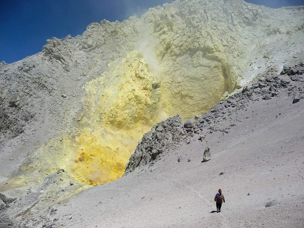 Colorful mines visited on guided Andes Journey in Bolivia Tour