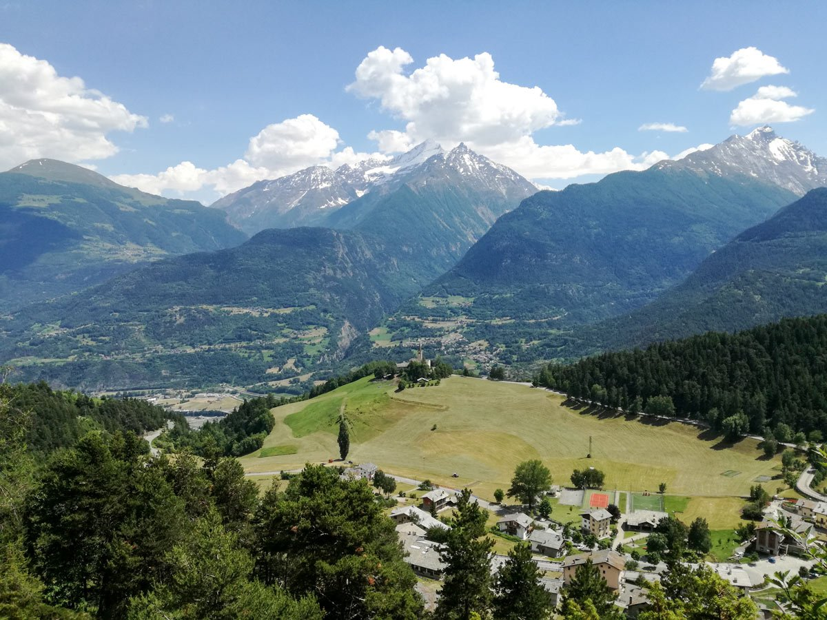 Beautiful views of the Aosta Valley