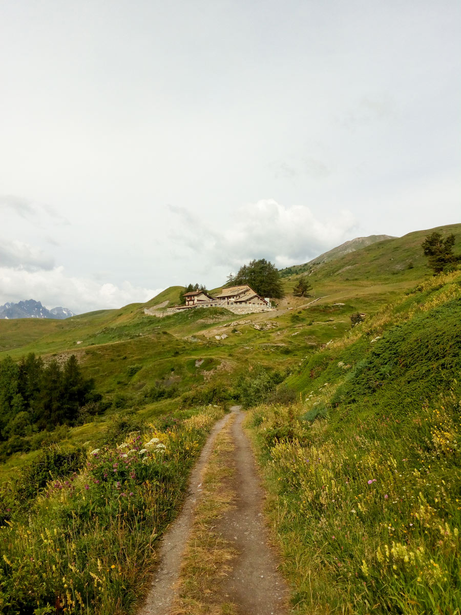 Approaching the guesthouse in the mountains around the Aosta Valley