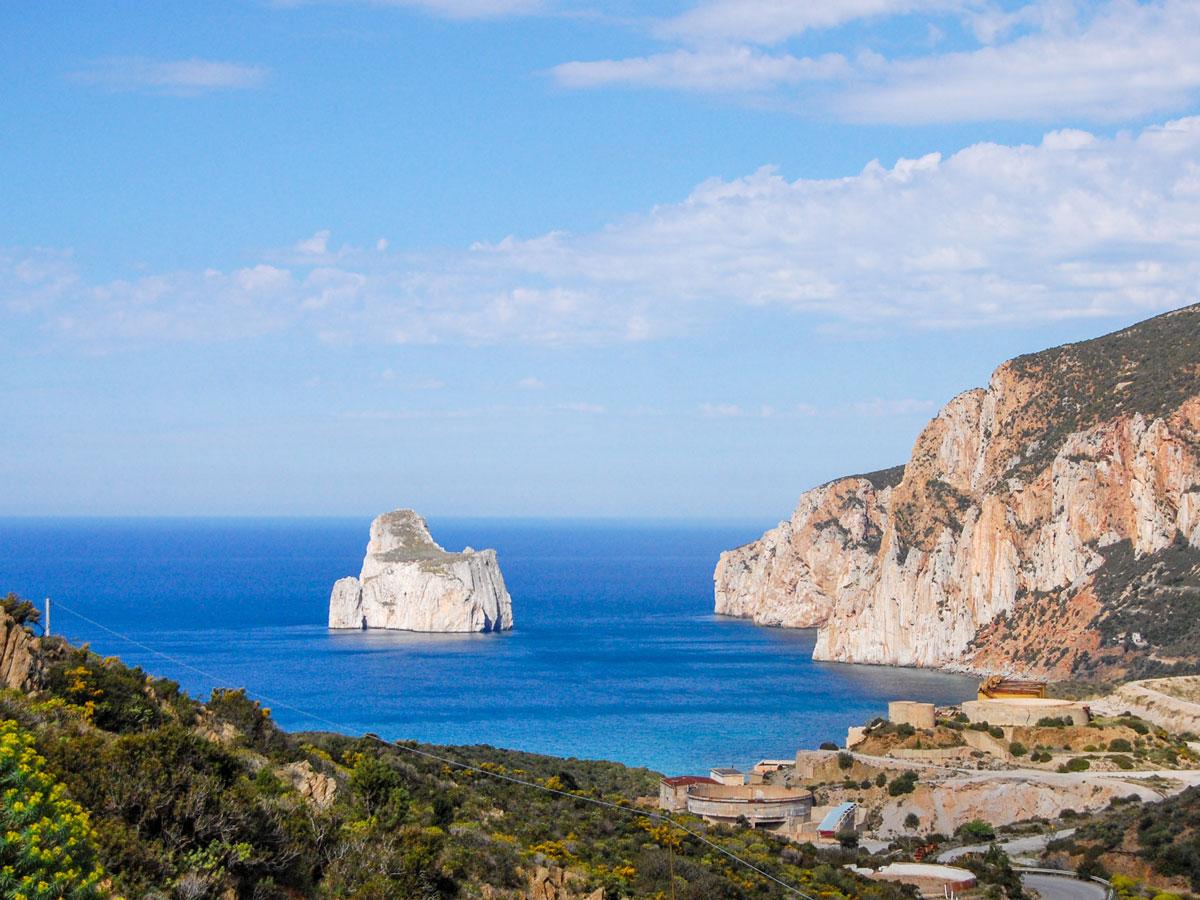 Rock formations in Sardinia Island Italy