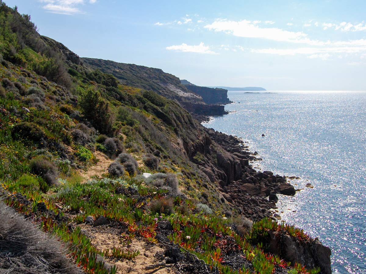 Expansive views from the top on self guided Sardinia Coastal Walk