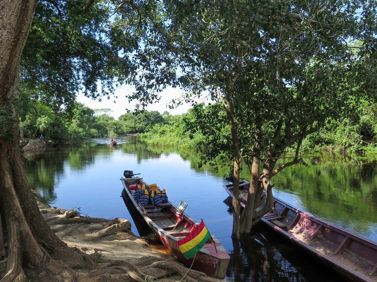 Boats in Amazonia region in Bolivia