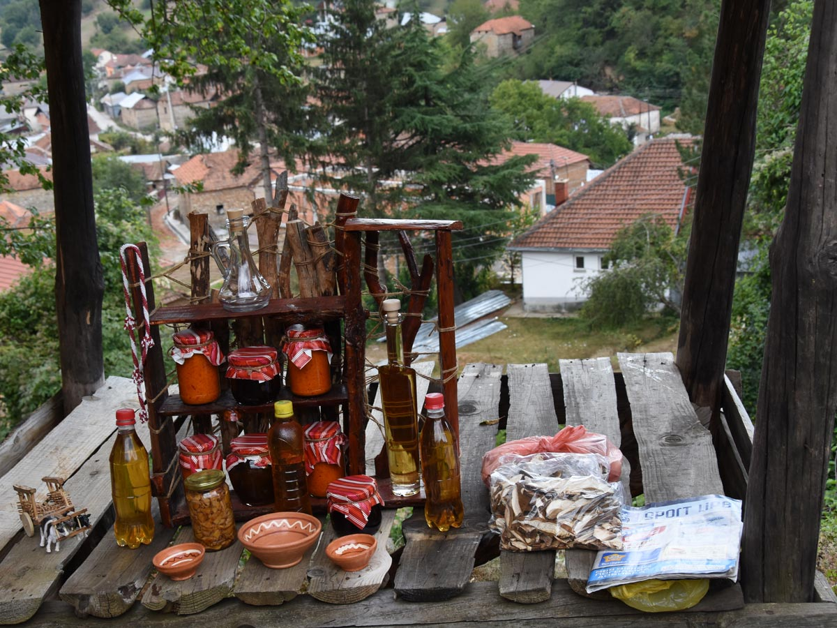 Hiking in Kosovo and Macedonia tour includes visiting the small traditional shop in Kuratica village, near Ohrid
