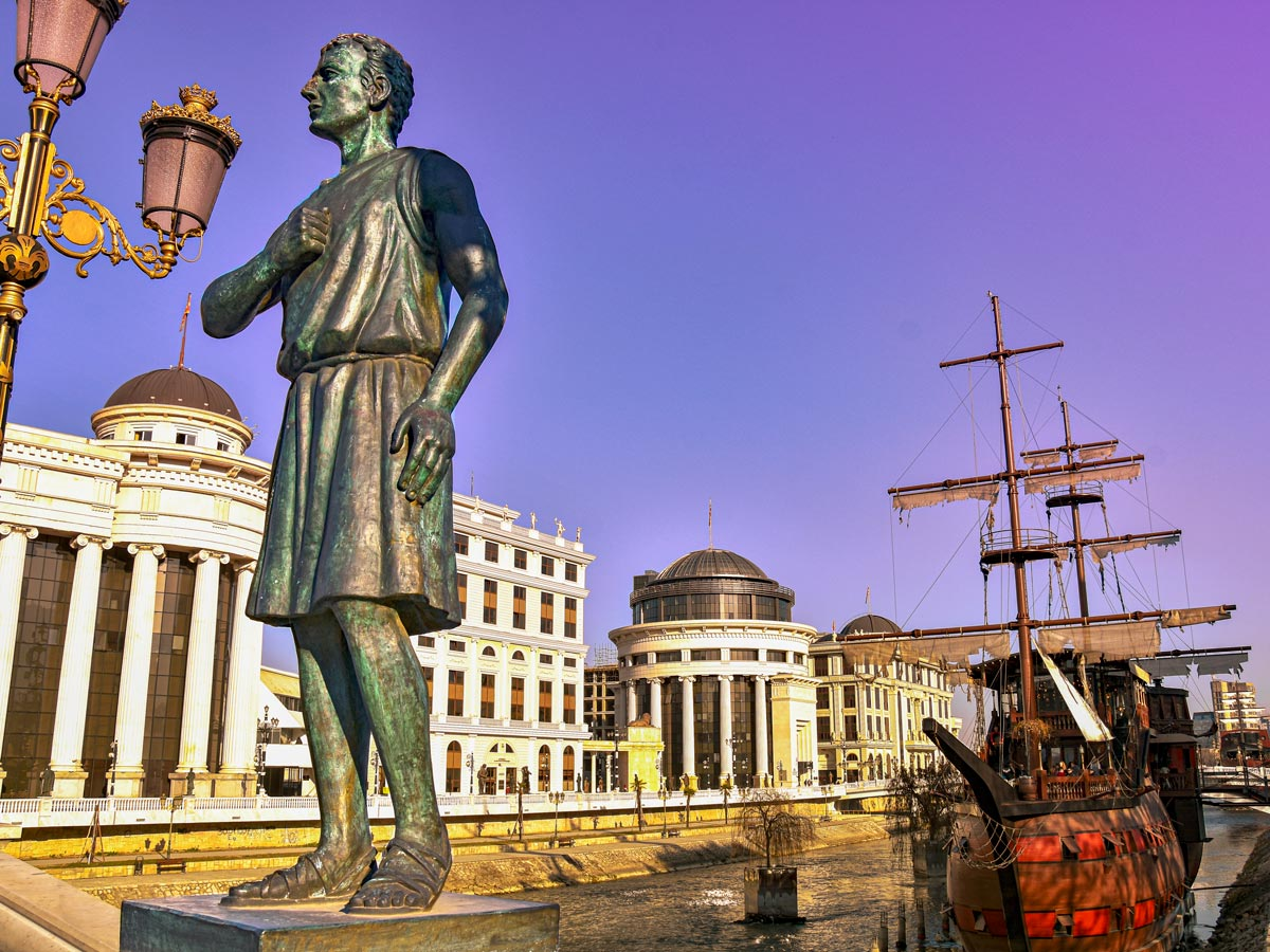 On a Cycling with the Gods tour, you have a chance to visit the Skopje city center, Macedonia