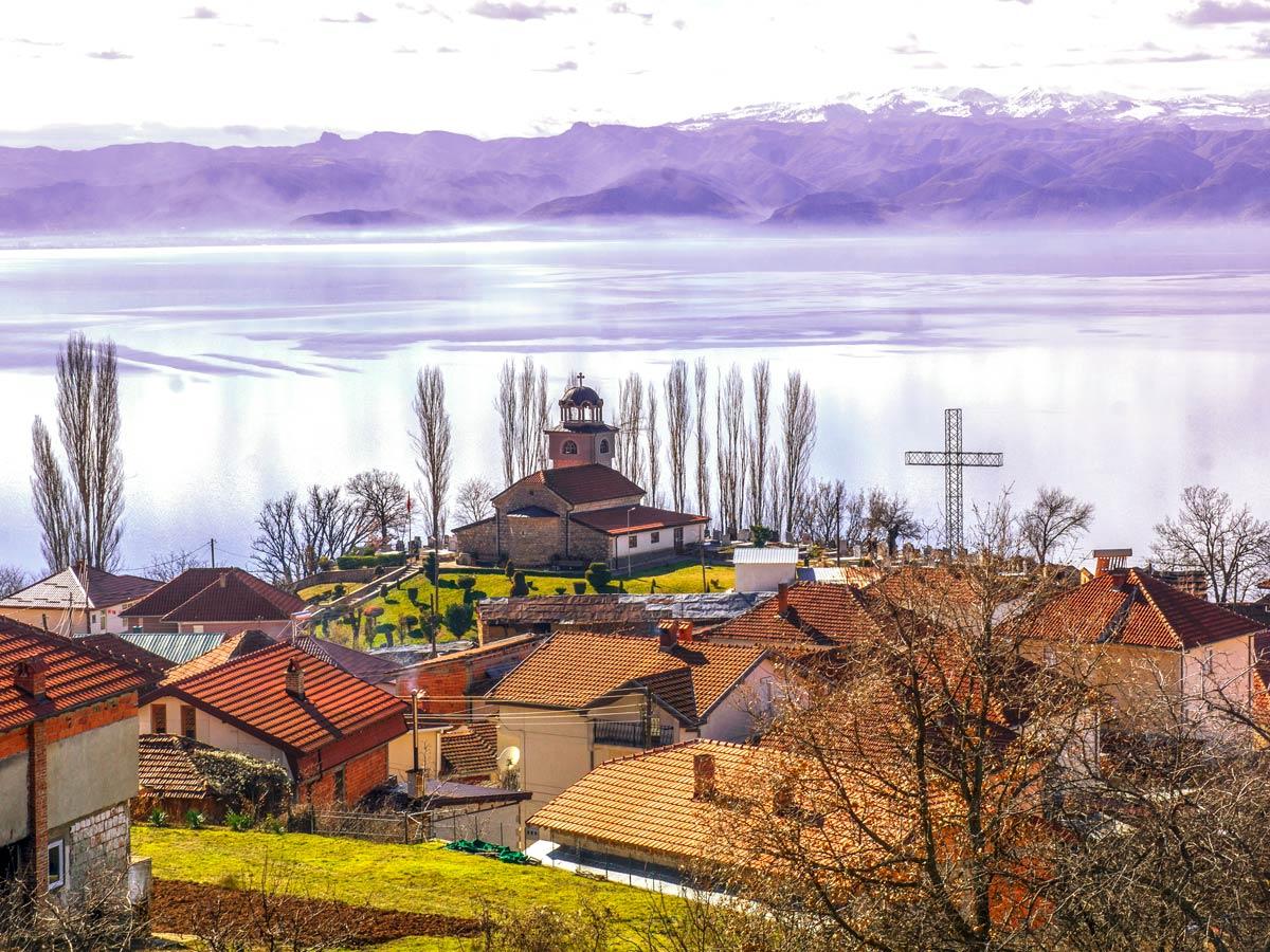 Elshani village near Ohrid visited on a biking tour near two lakes of Macedonia