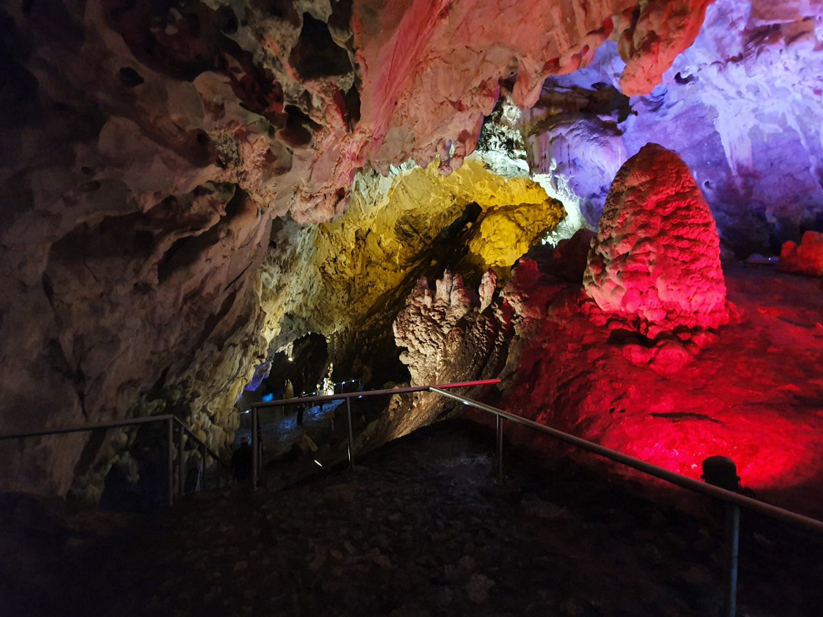 Stunning views Inside the Vrelo Cave in Matka Canyon Skopje Macedonia