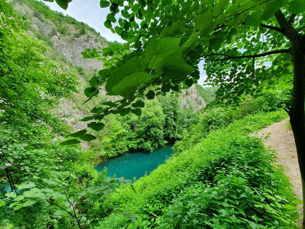 Matka Canyon views on a Macedonia and Kosovo Hiking Tour