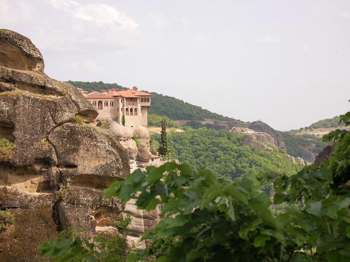 Views of Meteora as seen on a guided biking tour in Balkans