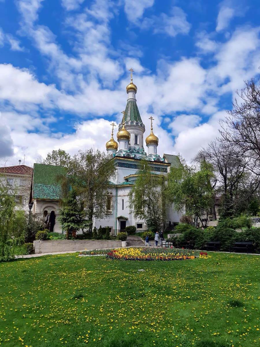 Russian church in Sofia Bulgaria