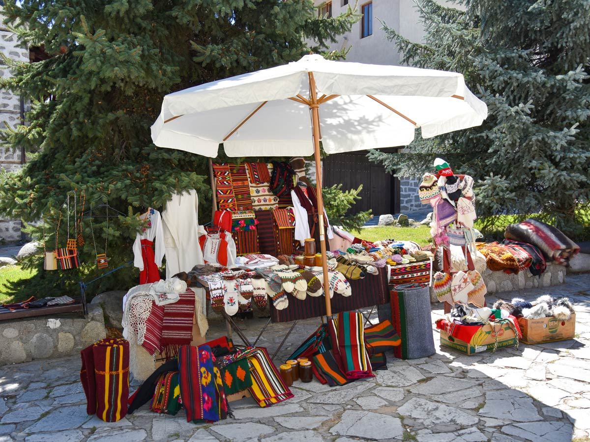Small gift shop in Bansko Bulgaria Cycling with the Gods Tour