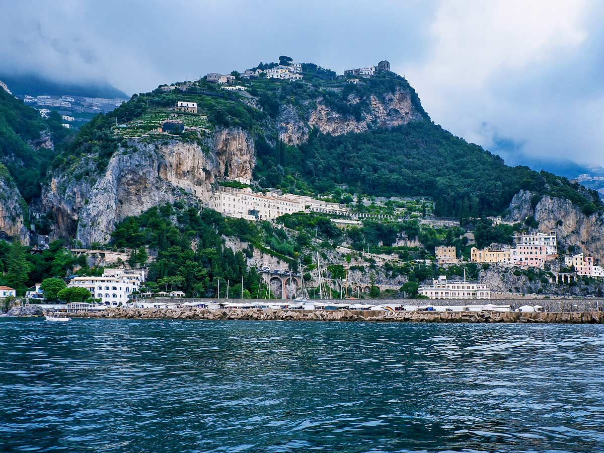 Cliff side city on the Amalfi Coast seen on guided Amalfi Coast Walking Tour in Italy