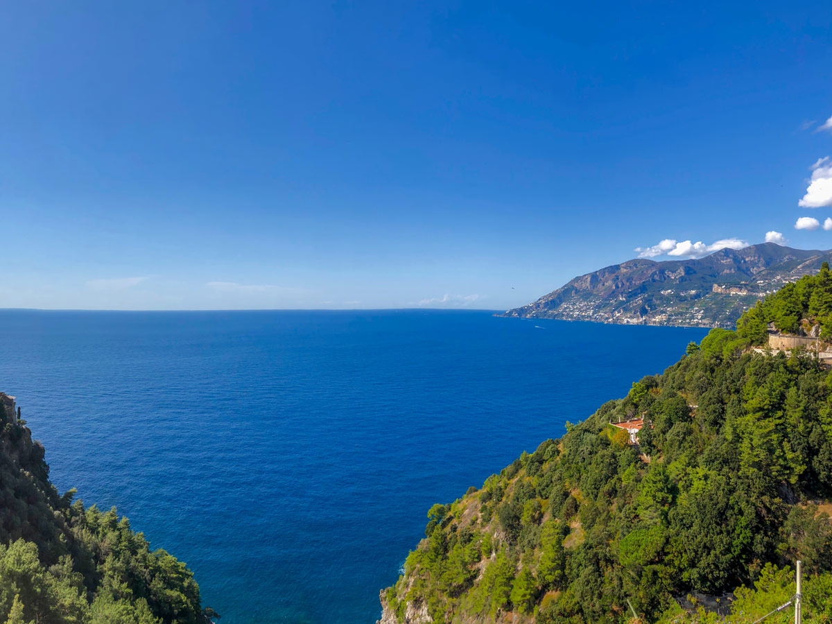 Beautiful views of the ocean seen on guided Amalfi Coast Walking Tour in Italy
