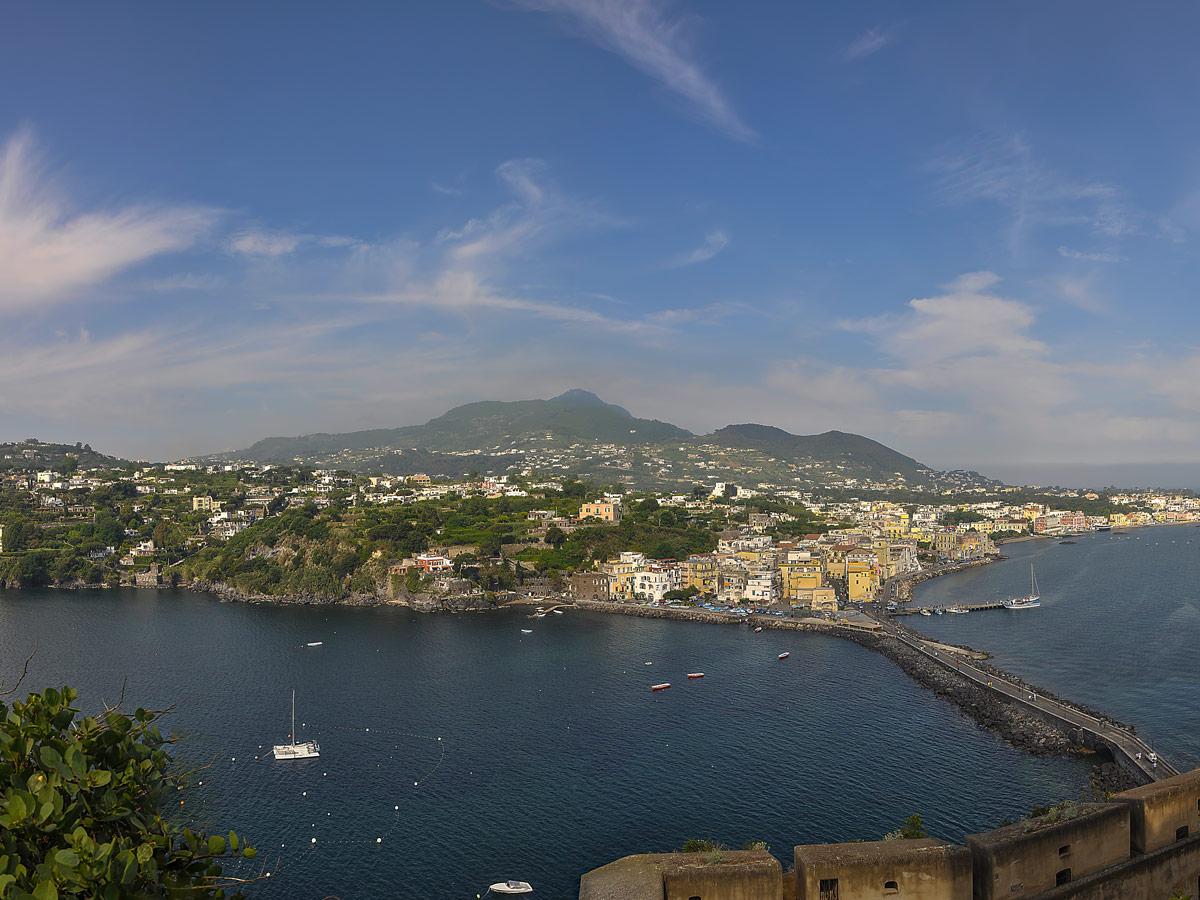 Castello aragonese panoramic view on Ischia Family Tour
