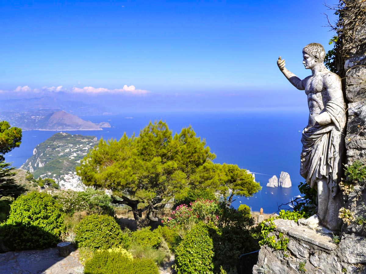 Sculpture in Capri Island seen on guided Campania Walking Tour in Italy