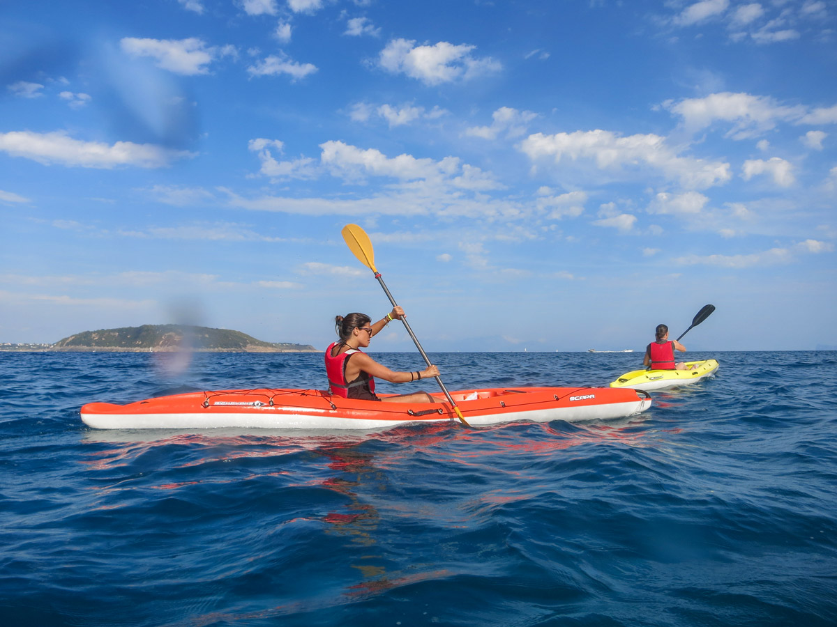 Kayaking in the Gulf of Naples is a very rewarding experience