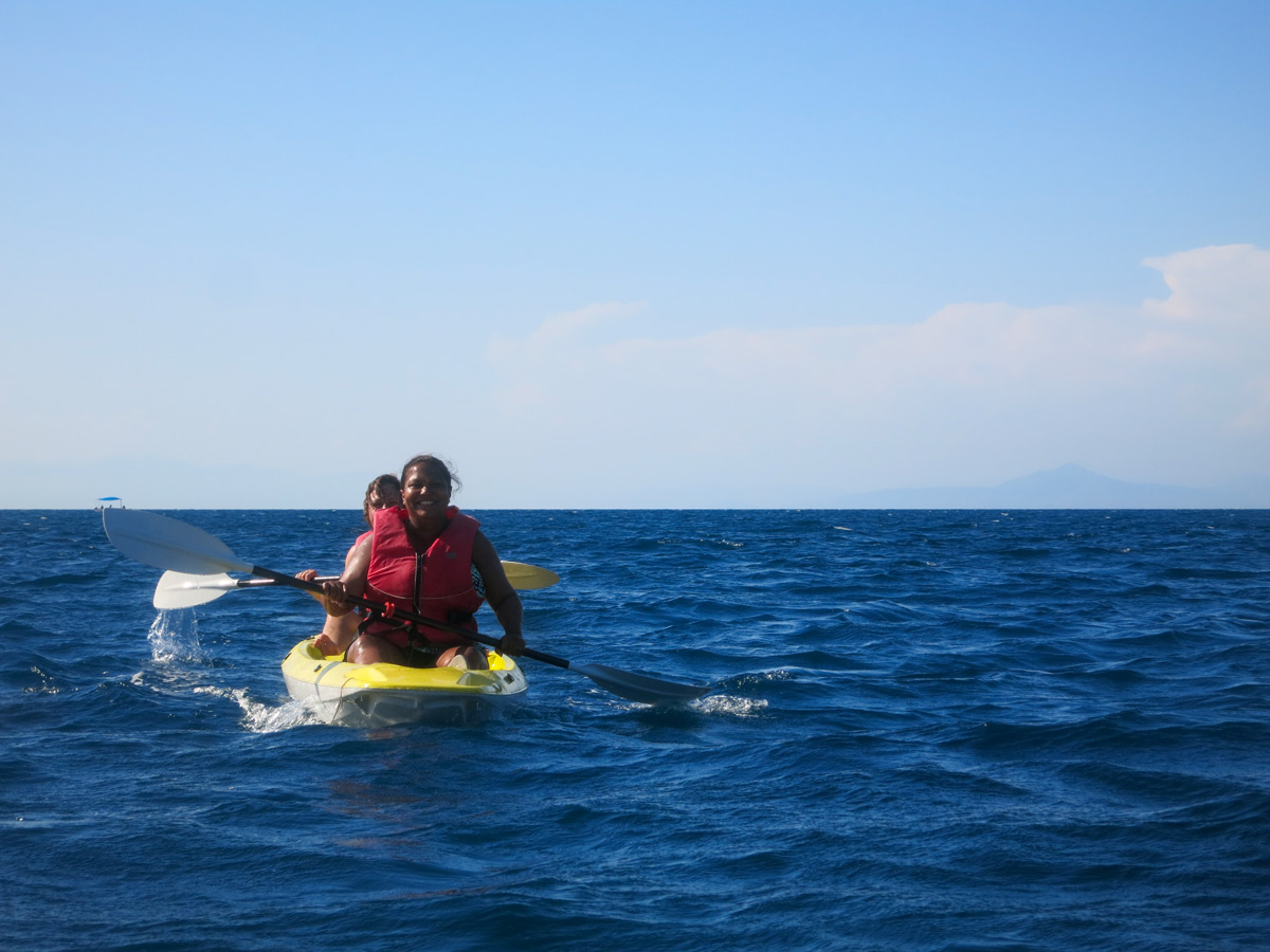 Kayak in Gulf of Naples while on Gulf of Naples Walking Tour