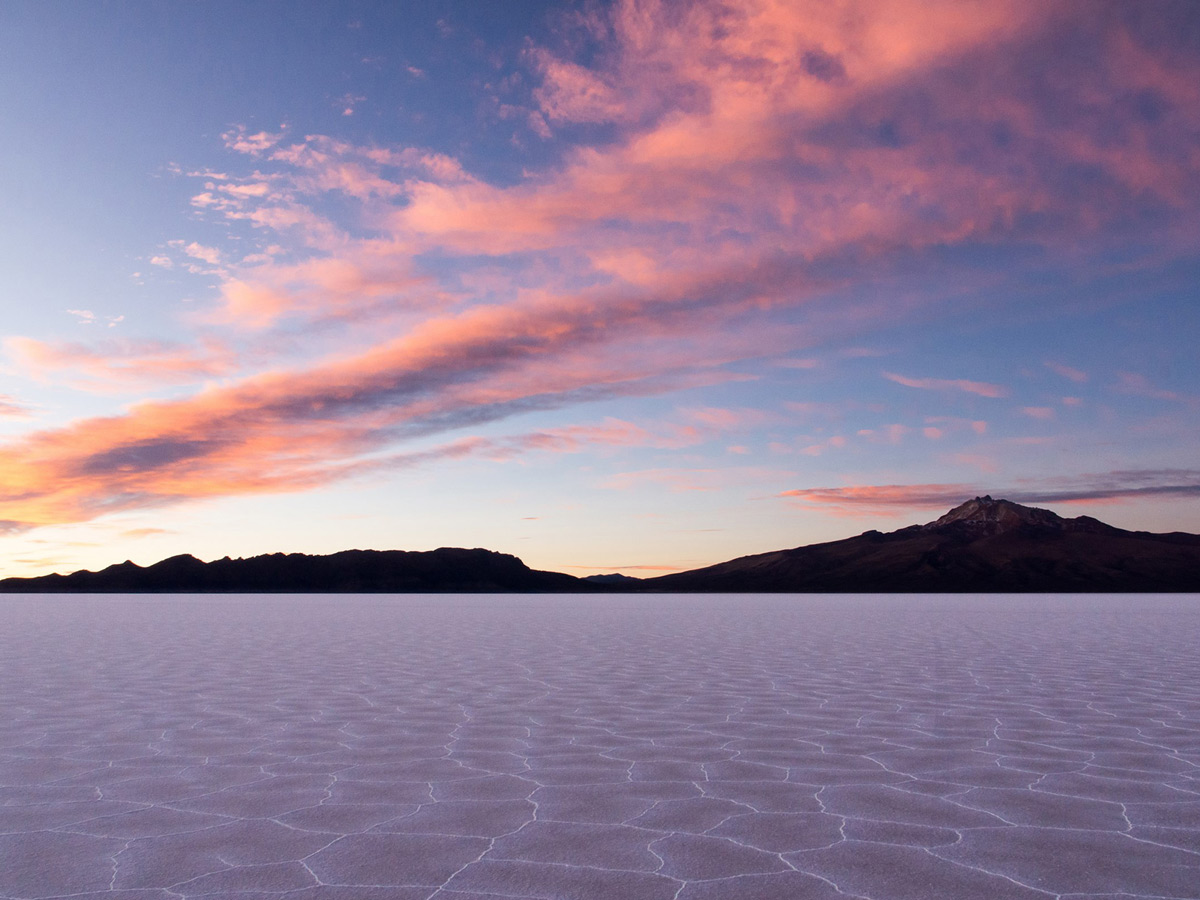 Panoramic view of the salt desert seen on guided Bolivia Adventure Tour