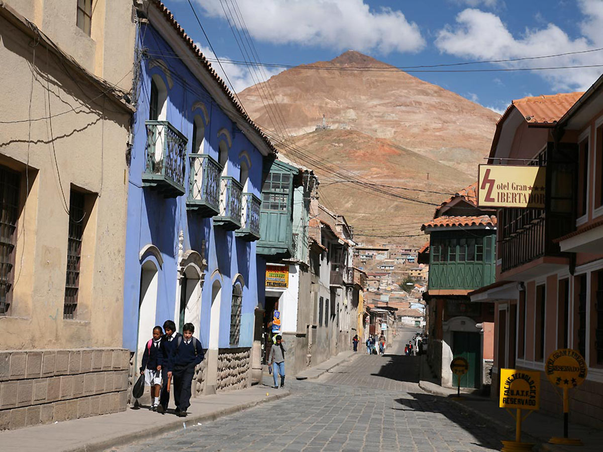 Bolivia Adventure Tour includes visiting the Potosi Town