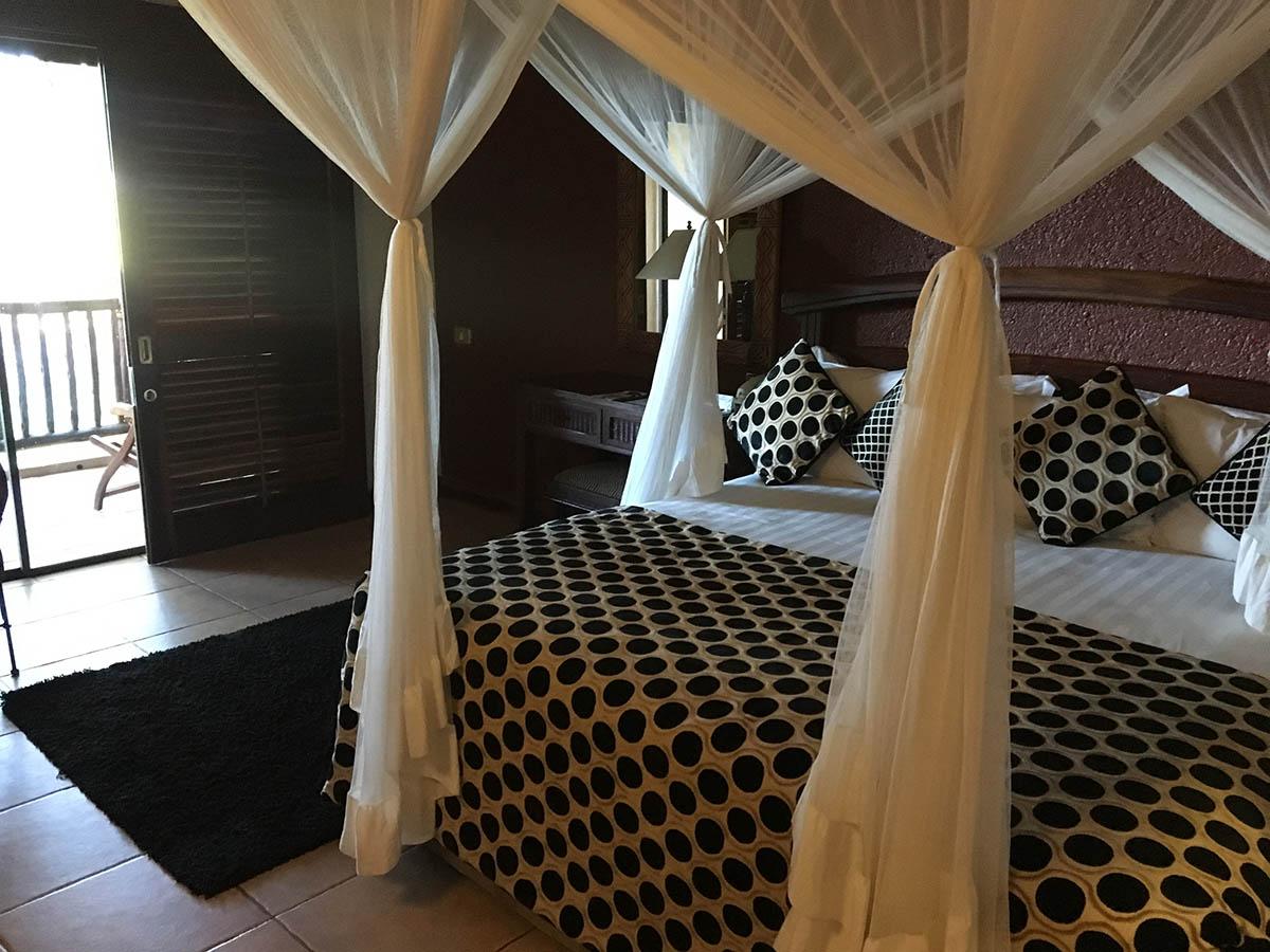 Beautiful room in a hotel on Botswana, Zimbabwe and Namibia Adventure Tour