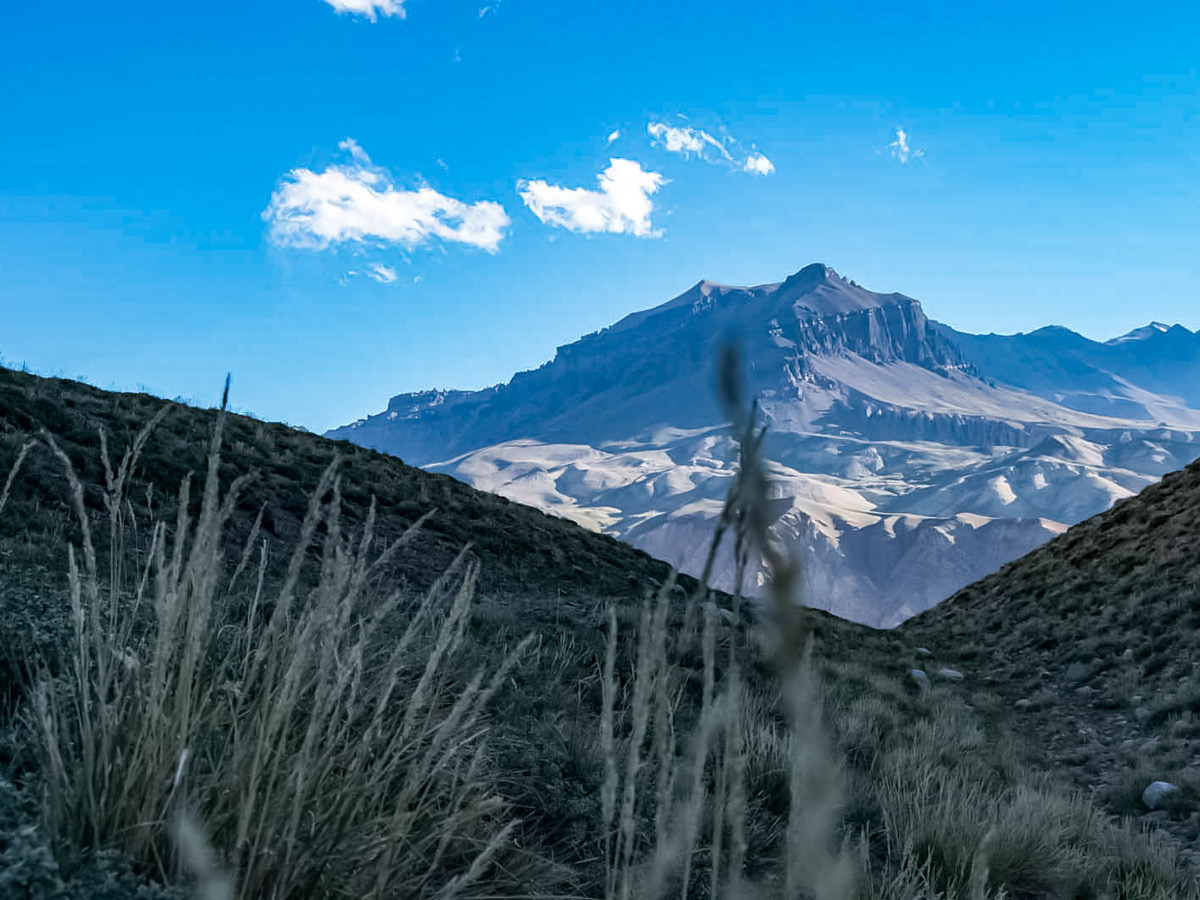 Andes mountain trekking in Argentina
