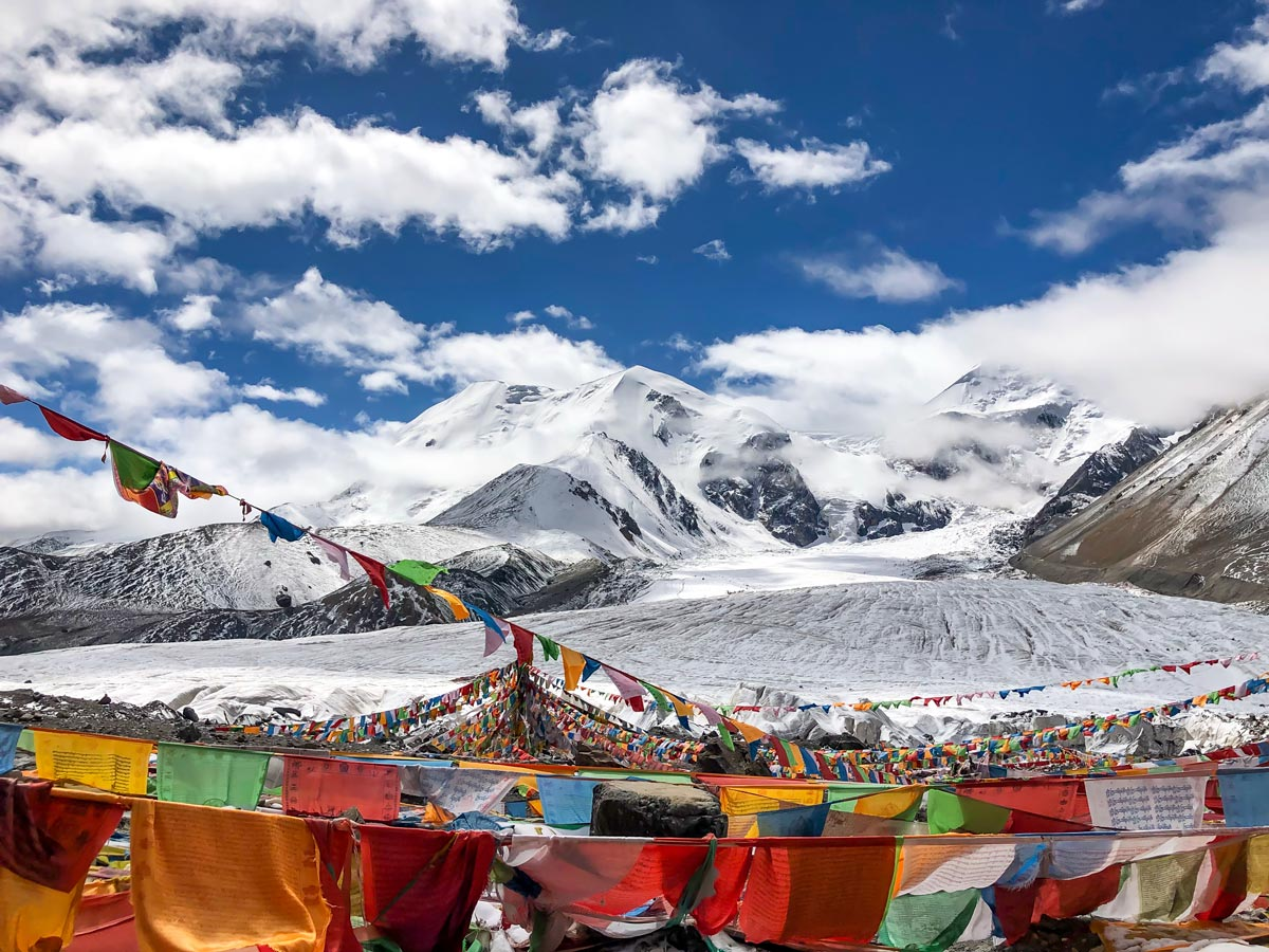 Holy Mountain Amnye Machen summit in Tibet