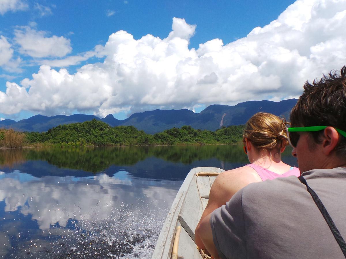 Boat ride along Sarawak Rainforest Adventure tour in Malaysia