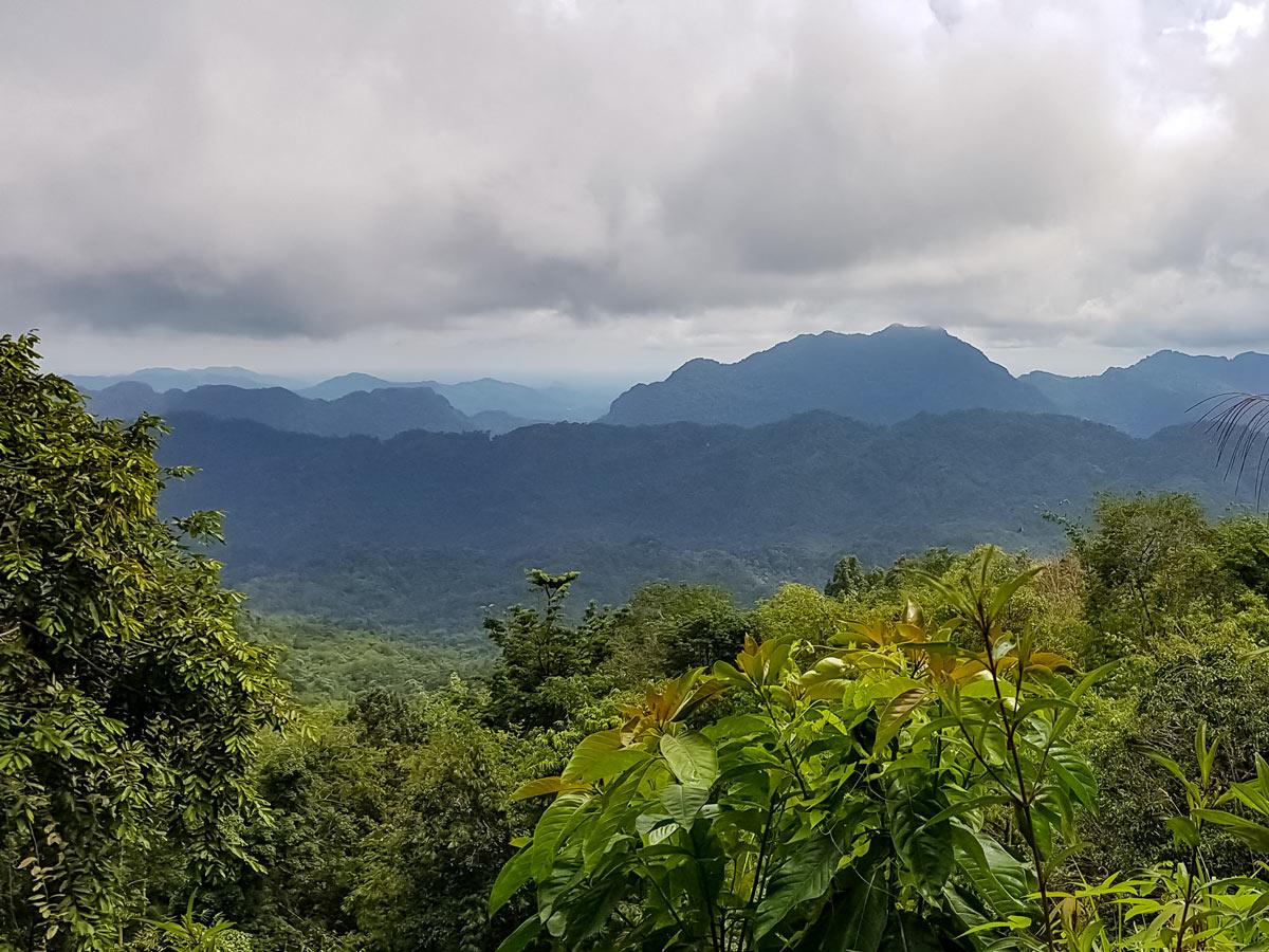 Beautful views of jungle along Sarawak Rainforest Adventure tour in Malaysia
