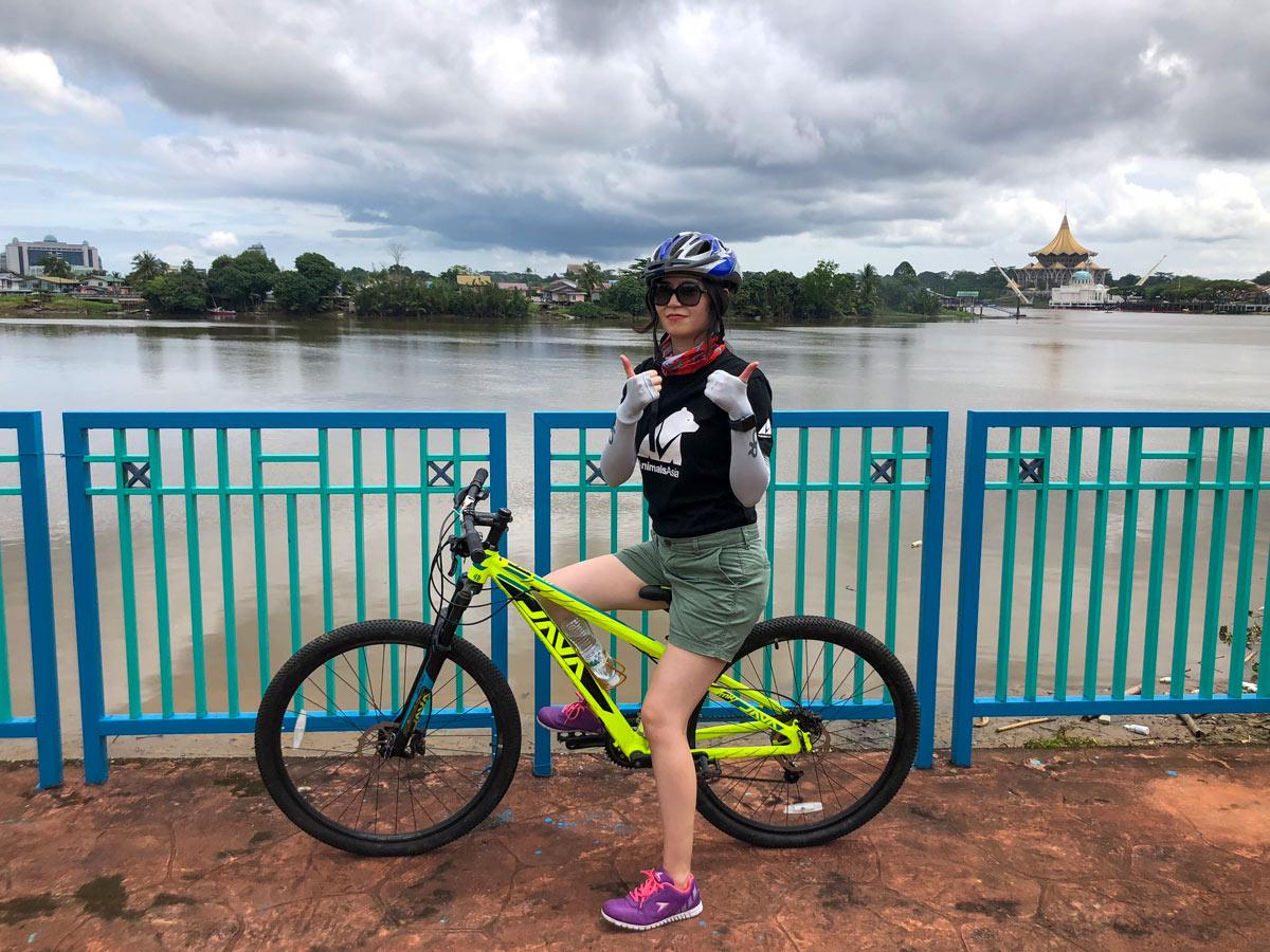 Cyclist poses along Malasia Headhunters Heartland bike tour