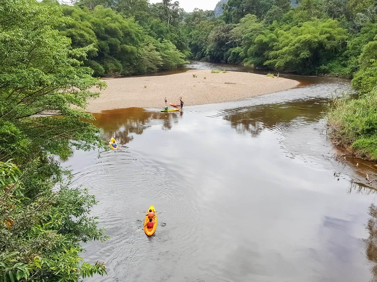Malaysian rainforest bie tour with kayaking