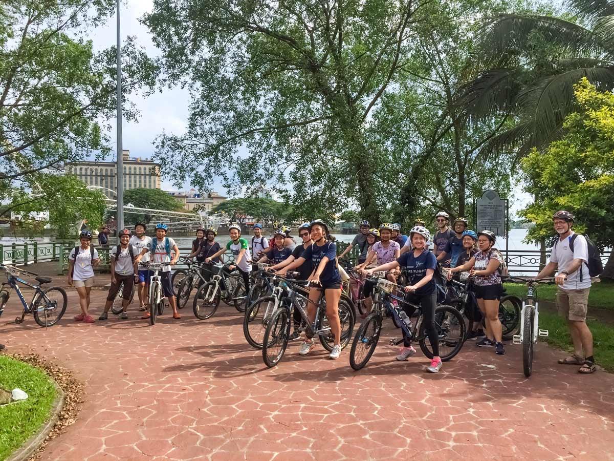 Malaysia rainforest bike tour group photo