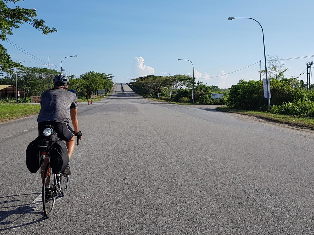 Beautiful road biking along Trans Borneo road bike tour Malaysia