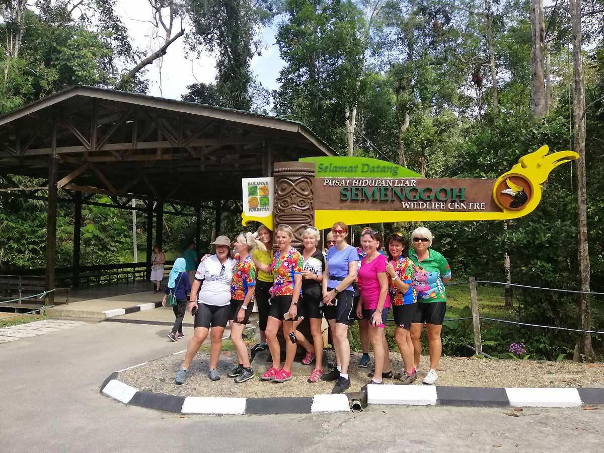 Tour group in Malaysia on Sarawak Rainforest Adventure tour