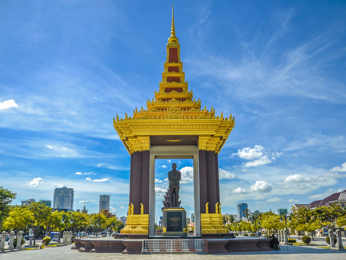 Late King Father Norodom Sihanouk Statue in Phnom Penh