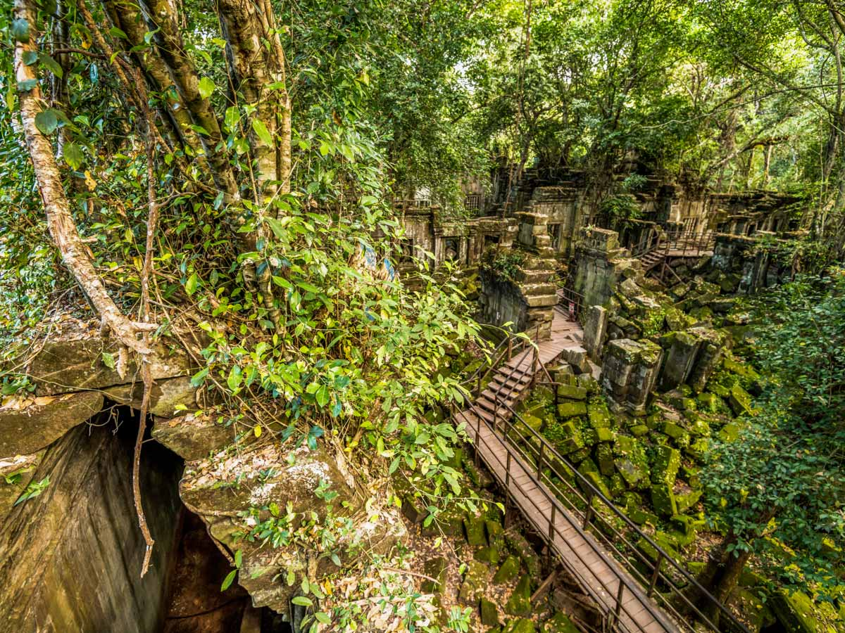 Beng Mealea in Cambodia visited while on guided biking tour