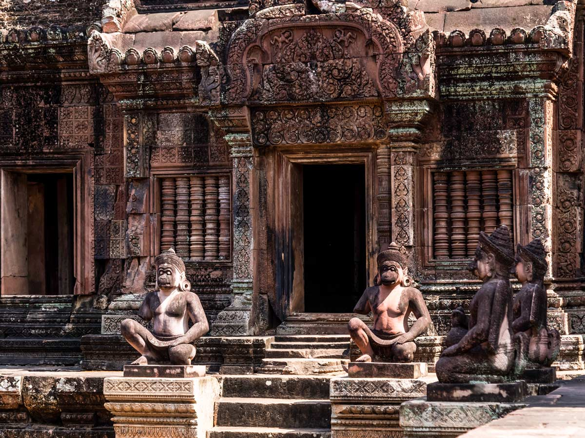 Stunning Cambodian architecture seen on guided ibking tour