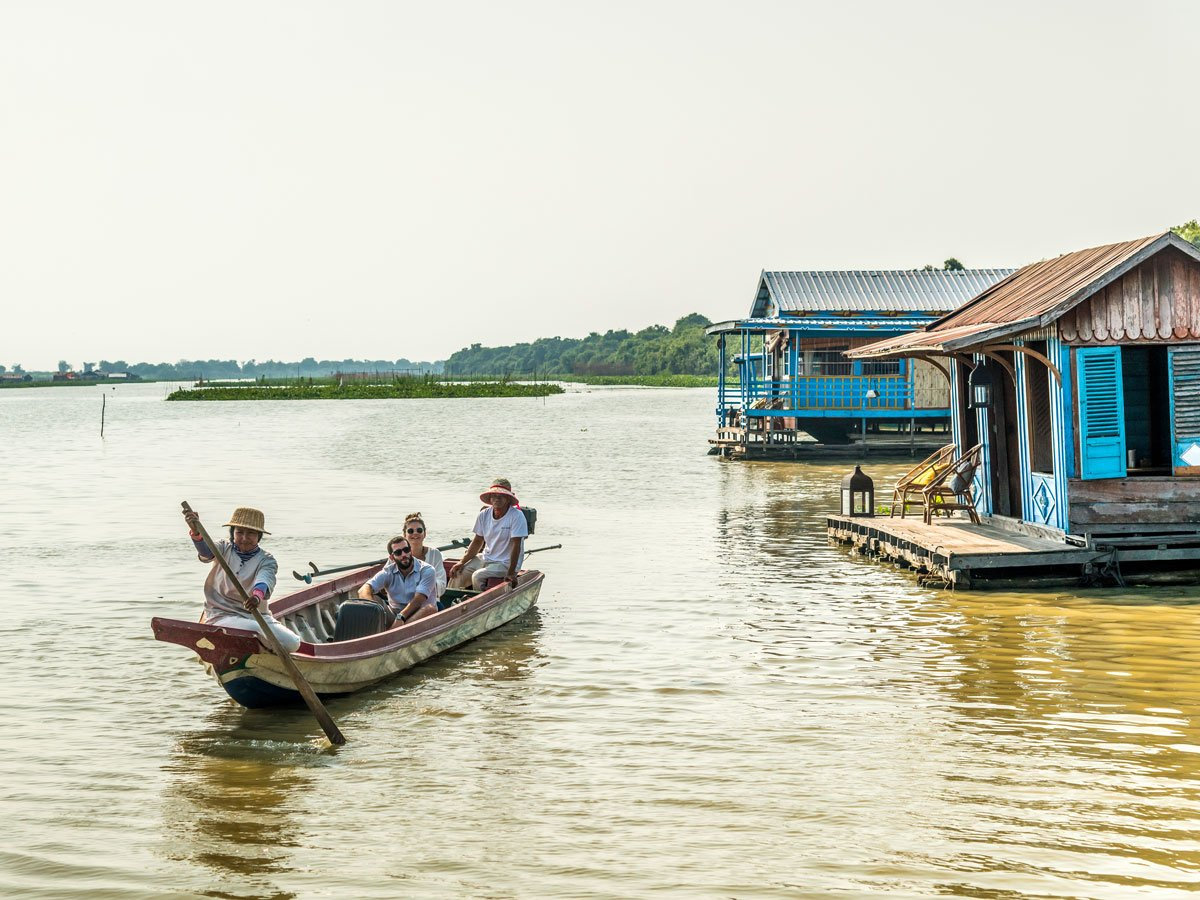 Visiting the floating village in Cambodia is a very rewarding experience